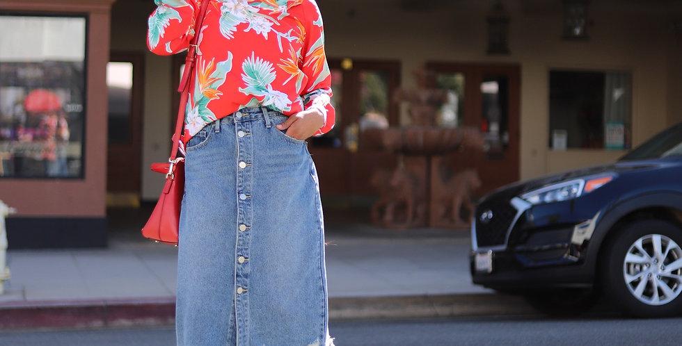 Belle Denim Skirt