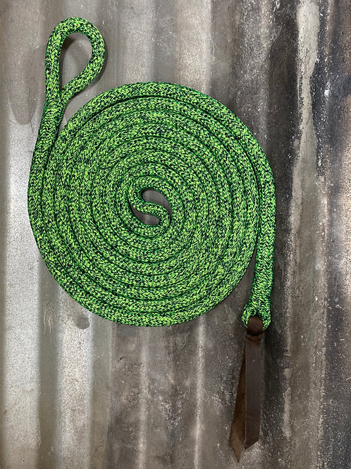 14' Lead Rope w/ Clinician Style Weighted Tail