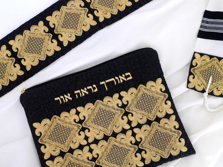 A neckband and Tallit bag