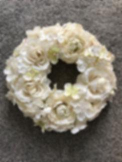 Hydrangea/Rose Wreath