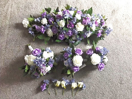 Lilac Artificial Flower Arrangement