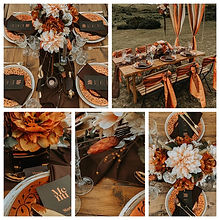 Chocolate Orange Wedding Styling