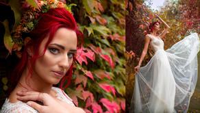 Sesja ślubna jesienią - w kolorach czerwieni