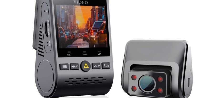 VIOFO 1080P Twin Channel Interior Dash Camera with Buffered Parking Mode and Infrared Lights
