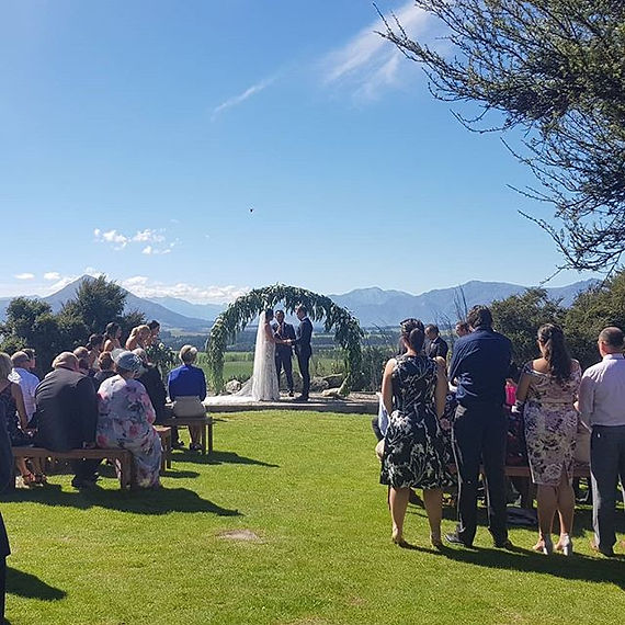 A  lovelysunny day a Criffel Station in Wanaka. What a day to get married in Wanaka.