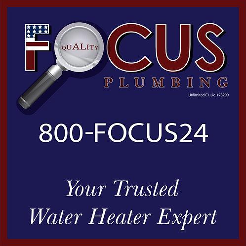 Focus - Yard Sign Water Heater Expert
