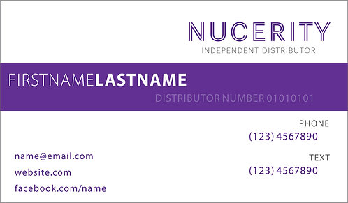 Nucerity - Business Card II Landscape