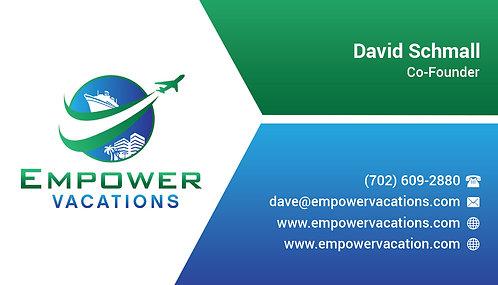 Empower Green Top Business Card - 14 pt Gloss