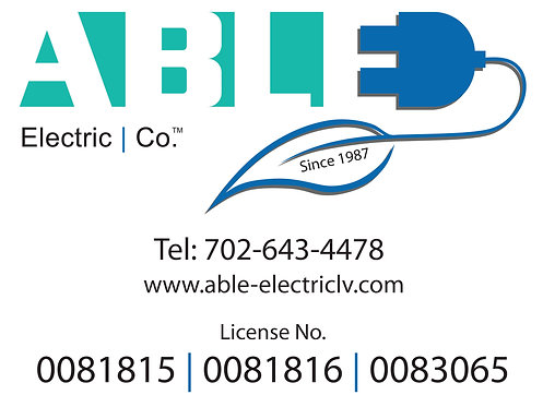 Able Electric - Car Magnet Signs (set of 2)