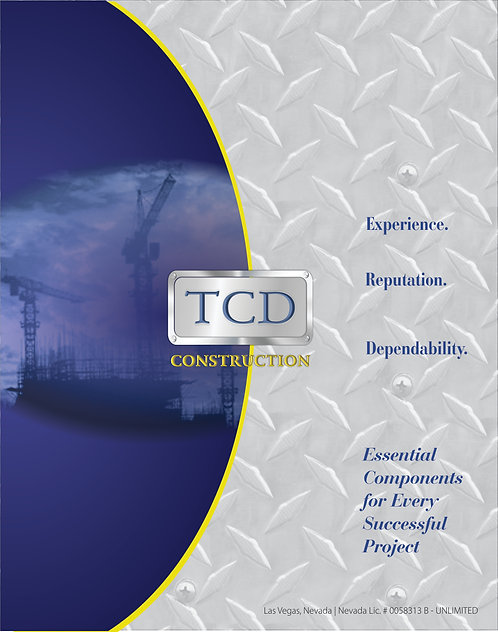 TCD Construction 11 x 17 Half Fold Brochure