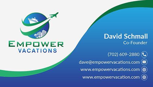 Empower Swirl Business Card - 14 pt Gloss