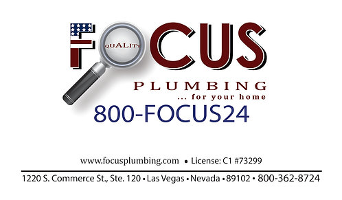 Focus Plumbing Business Card