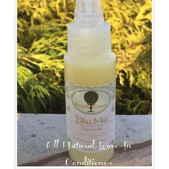 Bliss Mist Leave in Spray. _This amazing vegan friendly _ organic _ chemical free product comes in 3
