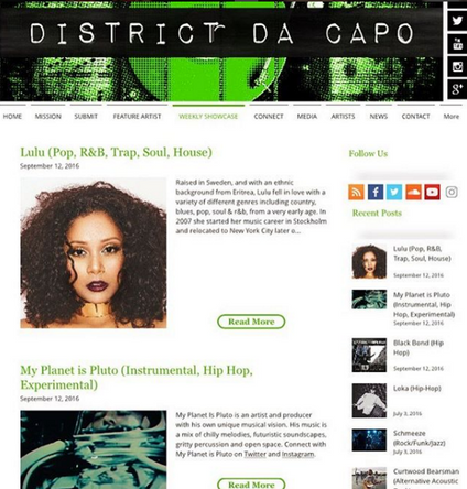 Check out Lulu's Feature on DistrictDaCapo!