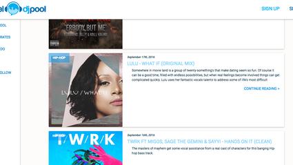 Exciting News: Lulu's Write-Up on Digital DJ Pool's Blog!