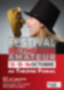 affiche  FESTIVAL THEATRE AMATEUR 2018 A
