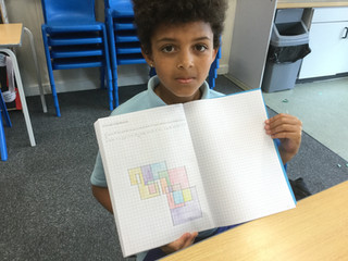 A year 6 bubble have created Spirolateral Patterns in maths.