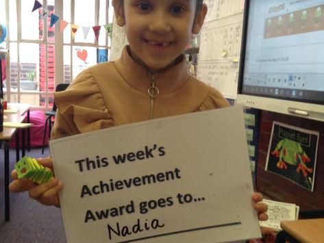 Year 1's Achievement Award