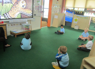 Our Reception Bubbles are enjoying learning and interacting with their friends in school