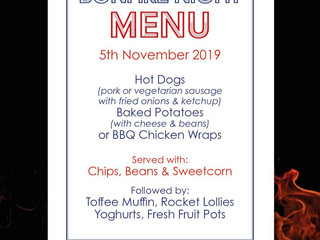 Special Bonfire Night Menu