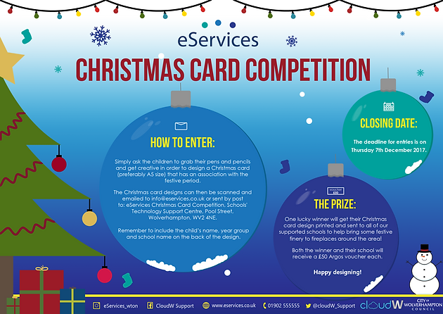 The EServices Team Are Pleased To Announce Our 2017 Christmas Card  Competition!