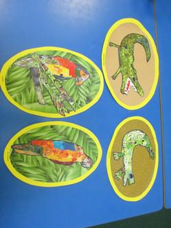 Year 5 Croc and Bird art work (2)