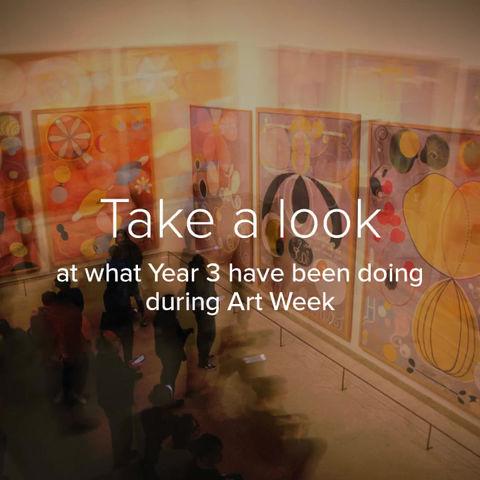 Art Week in Year 3