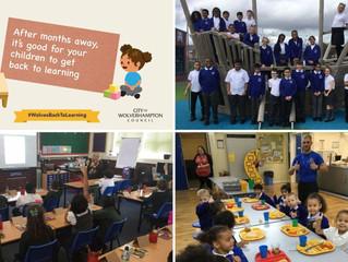 Children and parents happy as pupils return to city's schools