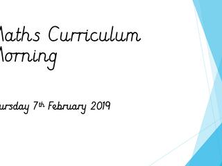 Maths Curriculum Morning