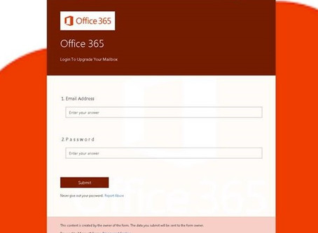 Phishing Scam in Microsoft Forms
