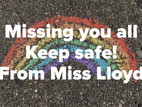 Mrs Lloyd has a special message for everyone #staysafe #love to all at Graiseley