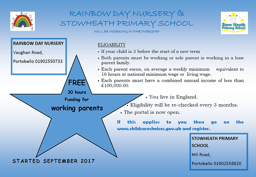Rainbow Day Nursery | Stow Heath Primary School