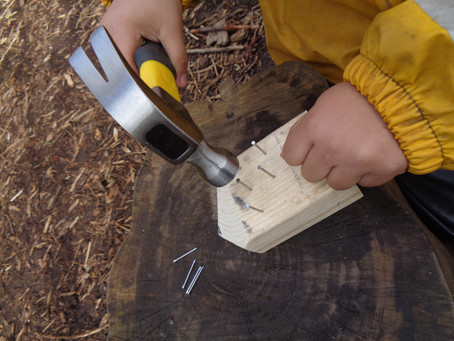 Forest School - Reception - Hammer and Nails