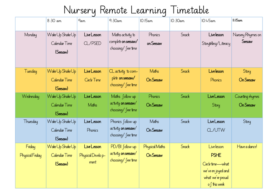 Nursery remote learning timetable.png