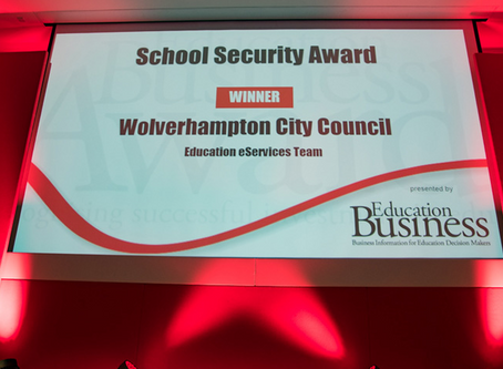 eServices Team takes away the 'School Security' prize at the Education Business Awards!