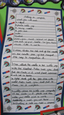 Liene Year 3 - instructions for how to make a compass