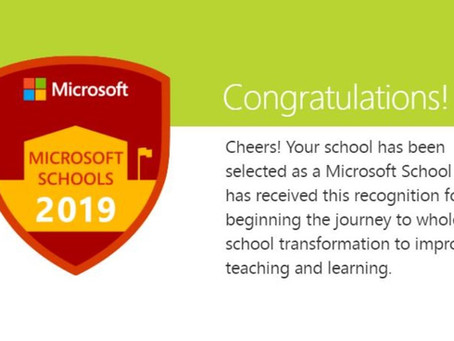 Lawnswood Campus is now officially a Microsoft School!