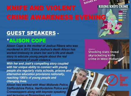 Knife and Violent Crime Awareness Evening