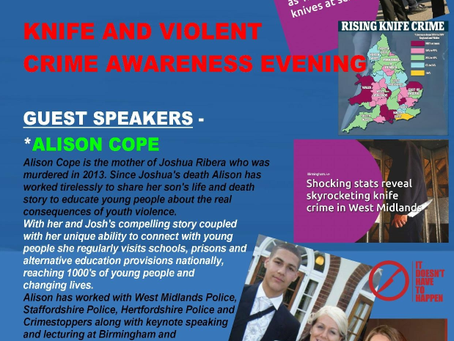 Knife and Violent Crime Awareness Evening