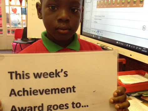 Year 1 Achievement Award Winner