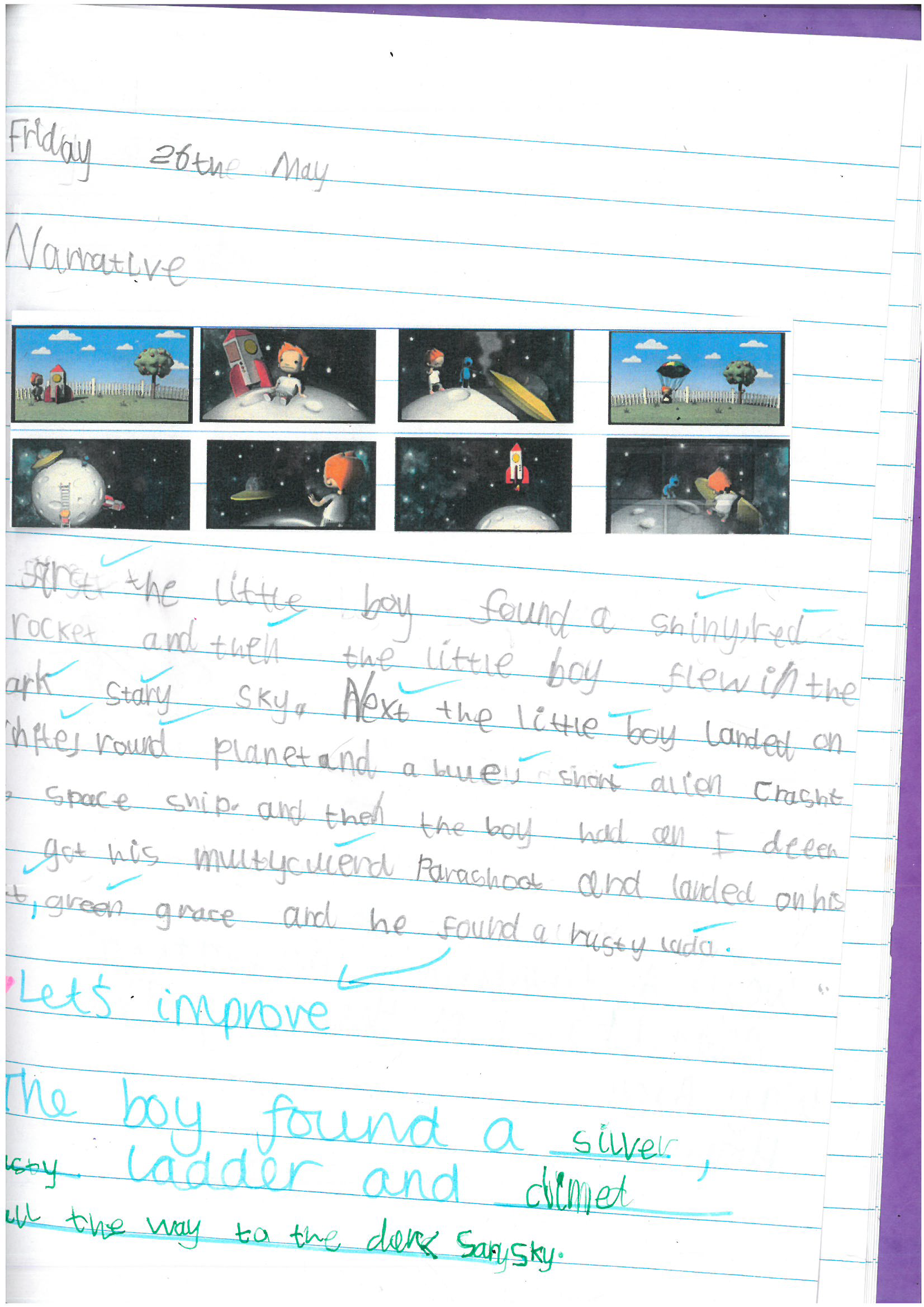 Year 1 Maeel - narrative from the Long way home