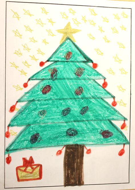 Christmas Tree Cards Ks1.2018 Christmas Card Competition Winners