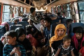 Women and children make up a majority of Rohingya who have settled in camps in Bangladesh. Thousands of Rohingya men were killed in Myanmar, while others may have stayed behind to fight. Credit Adam Dean for The New York Times