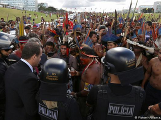 Brazil police, indigenous people clash in land rights protest