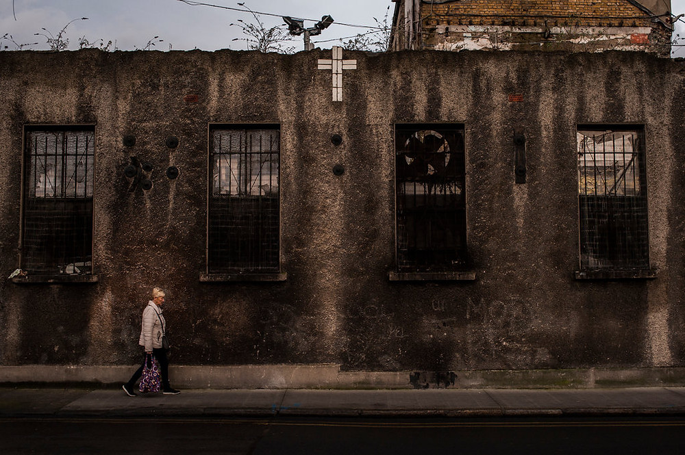 The back wall of the old Gloucester Laundry, the last of Ireland's Magdalene Laundries, in Dublin.CreditPaulo Nunes dos Santos for The New York Times