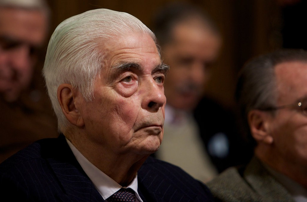 Former Army Gen. Luciano Benjamín Menéndez at his trial in Cordoba, Argentina, in 2010.