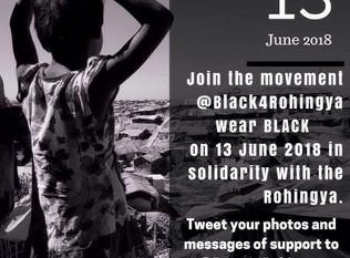 #Black4Rohingya on 13 June 2018