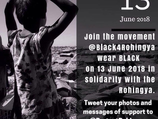 #Black4Rohingya on 13 June 2018