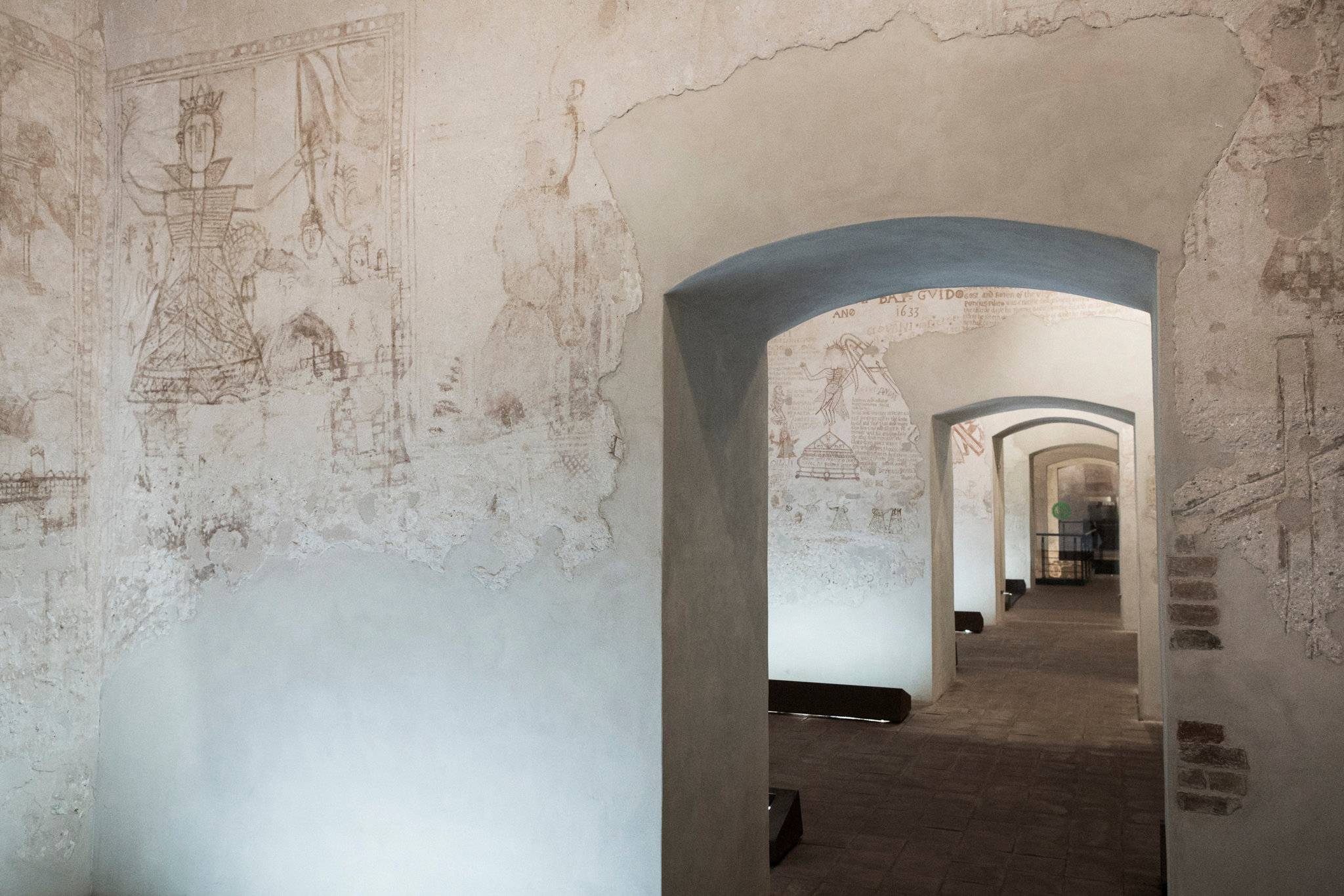 Palazzo Chiaramonte-Steri, today part of the University of Palermo, served as the prison and tribunal of the Inquisition. Its walls bear the scrawls of past inmates, including some written in Hebrew. Credit: Gianni Cipriano for The New York Times