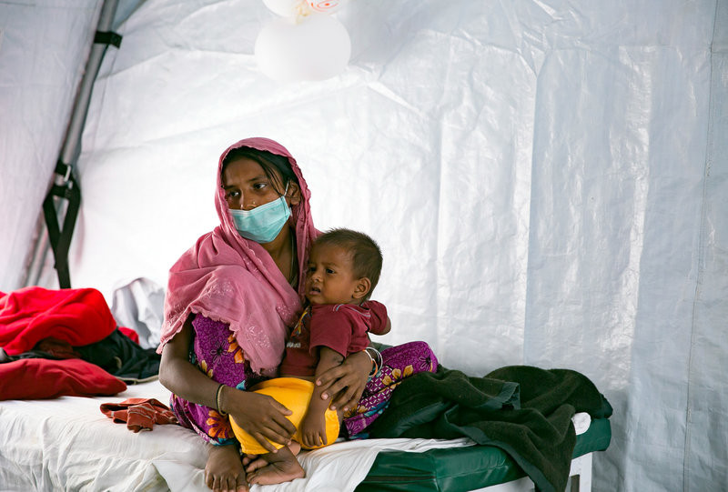 Humanitarian groups have launched a campaign to try to immunize nearly a million people in and around the refugee camps against diphtheria and other vaccine-preventable diseases.    Allison Joyce for NPR